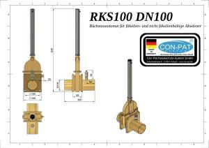 RKS100 DN100 Zeichnung bema