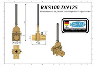 RKS100 DN125 Zeichnung bema