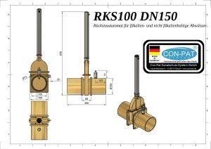 RKS100 DN150 Zeichnung bema